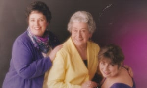 Jenny McCloskey, right, with her mother, Alfreda Woldike, centre, and her sister Lynda.