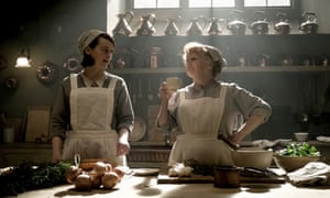 Sophie McShera as Daisy Mason, left, and Lesley Nicol as Mrs. Patmore in Downton Abbey.
