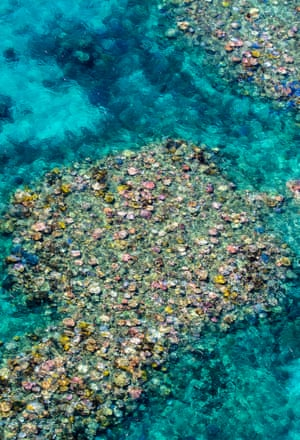 A reef from the air