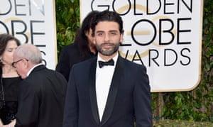 Oscar Isaac attends the 73rd Annual Golden Globe Awards.
