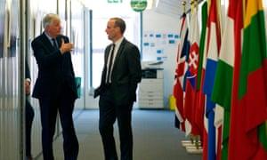 Michel Barnier and Dominic Raab.