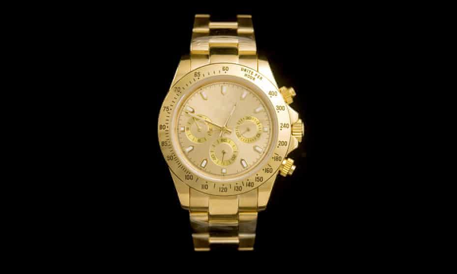 Luxury gold watch.