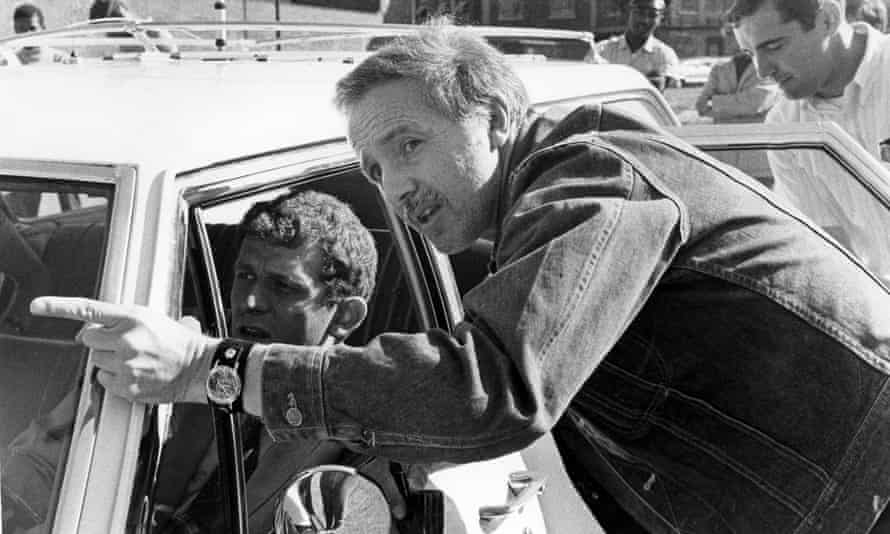 Haskell Wexler working on Medium Cool, 1969, his first fiction feature as director.