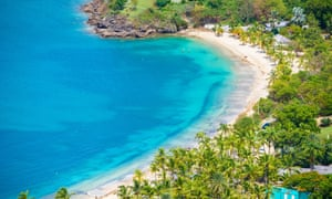 View of Galleon Beach from Shirley Heights in Antigua.