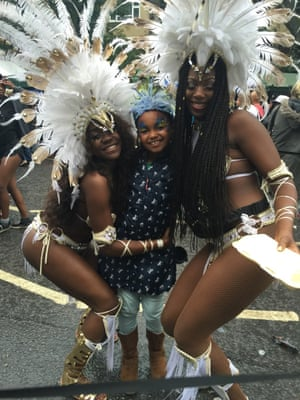 """<strong>Took my little Princess to meet the Carnival Queens</strong><br>Photograph: <a href=""""https://witness.theguardian.com/assignment/55deeea5e4b0778f0c23e764/1690181"""">Tony Wesourceitforu Thomas/GuardianWitness</a>"""