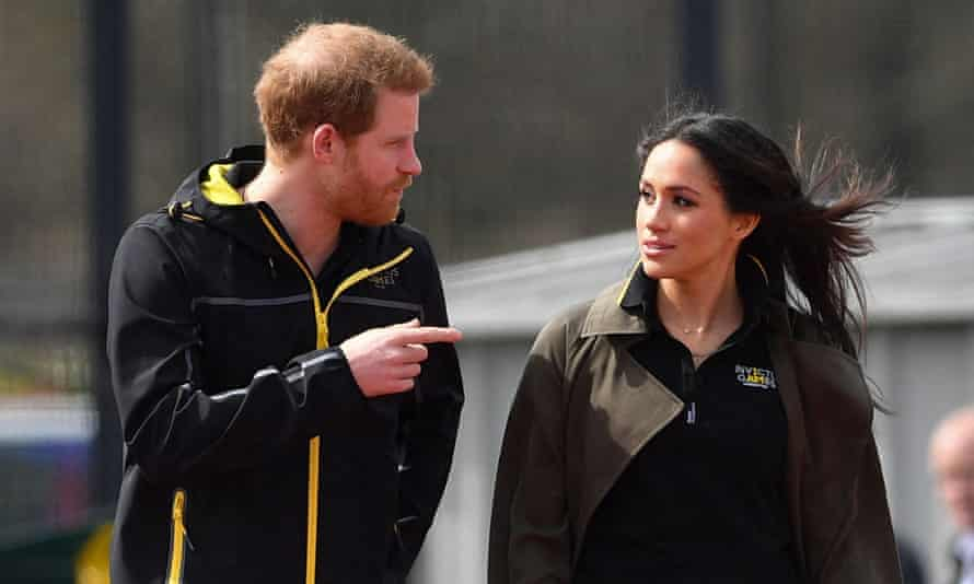 Harry and Meghan at the UK team trials for the Invictus Games Sydney in 2018.