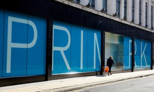 The stuttered up Primark store in Manchester as shops, restaurants, cafes, pubs and businesses shut down on Government advice as the Covid-19 coronavirus spreads across the country.