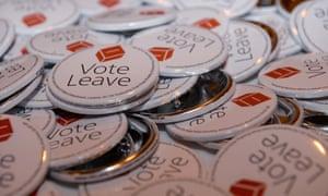 Vote Leave badges