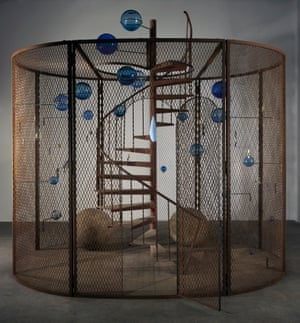 The Last climb (2008) – steel, glass, rubber, thread and wood.