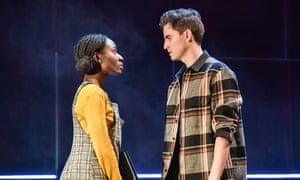 Carrying the play's emotional weight: Heather Agyepong as Sephy with Billy Harris as Callum in Noughts & Crosses.