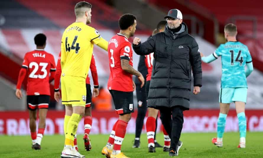 Jürgen Klopp after Liverpool's defeat at Southampton