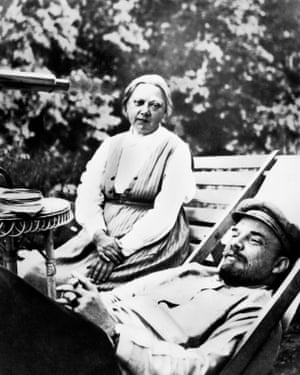 Dowdy domesticity … Lenin with his wife and comrade Nadezhda Krupskaya.