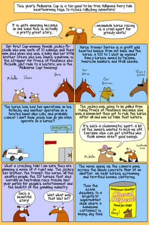 First Dog on the Moon's cartoon about the Melbourne Cup 2015.