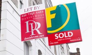Estate agent sold and let by signs