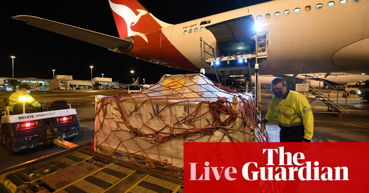 Australia Covid updates: Pfizer vaccines arrive from UK as NSW expects cases to grow – follow live