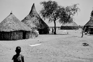 Children at their home in Ganyiel, Unity State