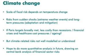 OBR's warning on climate change