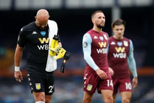 Reina reacts after the 1-1 draw.