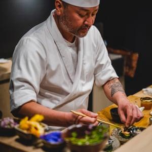 Chef Takashi Miyazaki at Ichigo Ichie restaurant.