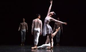 Momoko Hirata, centre, and dancers from Birmingham Royal Ballet perform Wink.