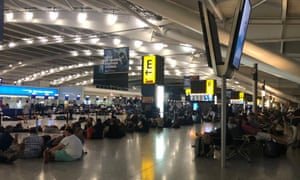 Last month's heatwave forced stranded passengers to sleep on the floor at Heathrow as hotels ran out of space.