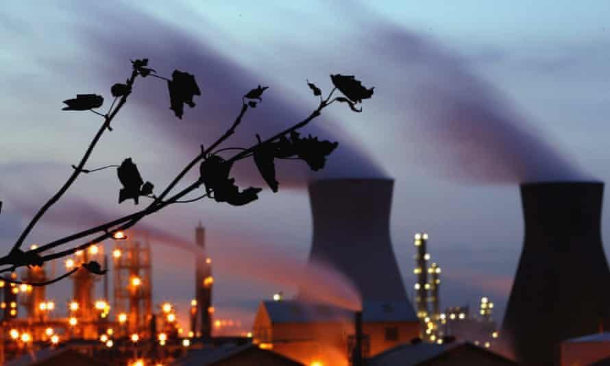 BP oil refinery in central Scotland