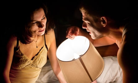 Light relief … Kate Fleetwood and James Norton in Bug.