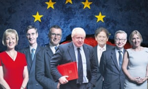Not their week: from left, Andrea Leadsom, Jason Rees-Mogg, Bernard Jenkin, Boris Johnson, Nigel Lawson, Michael Gove, Nadine Dorries