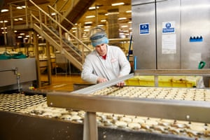 Mince pies being made at Premier Foods' factory in Barnsley, South Yorkshire