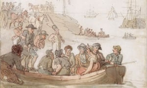 An artist's impression of the 18th-century transports