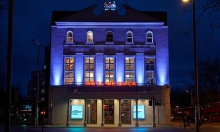 We'll Be Back ... the Old Vic theatre, May 2020.