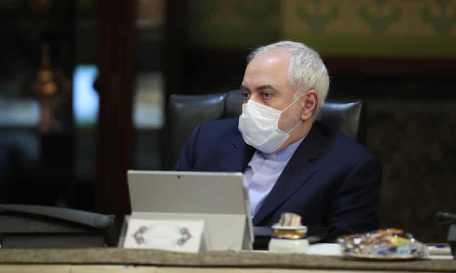 Javad Zarif during a cabinet meeting in Tehran in March 2020.