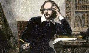William Shakespeare in his study