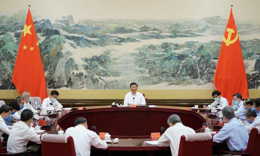 Chinese President Xi Jinping (centre) has been promoting the concept of the Chinese Dream since 2012.