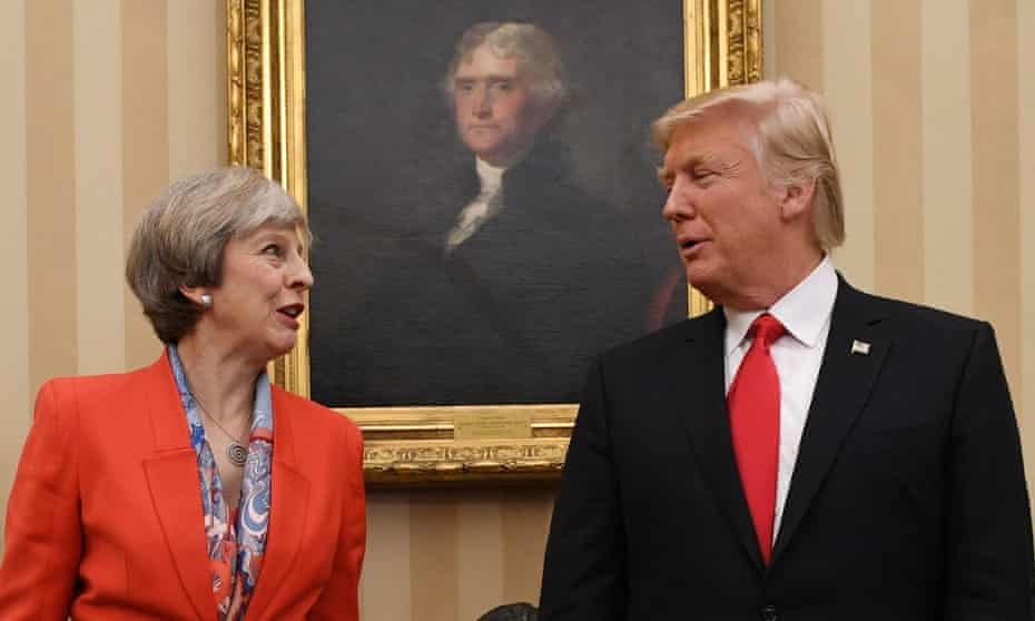 Prime Minister Theresa May meeting US President Donald Trump earlier this year