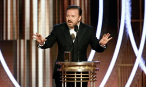 Ricky Gervais hosts the 77th Golden Globes in Los Angeles.