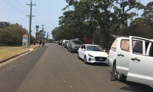 Cars lined up for 24 hours to leave Bendalong before finally getting the go-ahead on Friday.