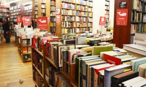 Inside the Strand bookstore in New York, New York.