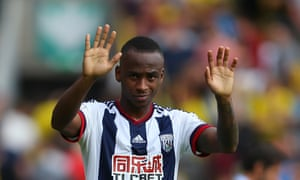 Saido Berahino had handed in a transfer request with current club West Brom.