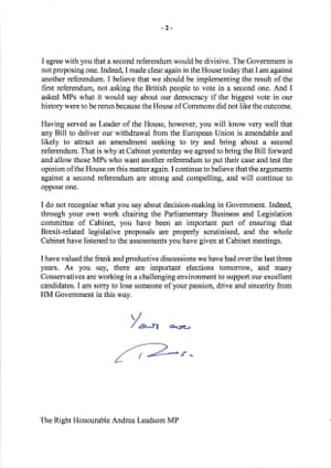 Page 2 of Theresa May's letter.