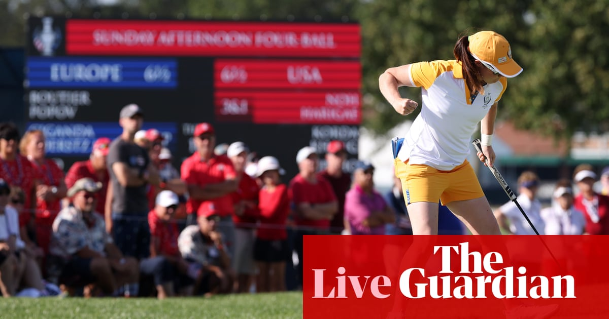Solheim Cup 2021: USA v Europe, final-day singles – live!