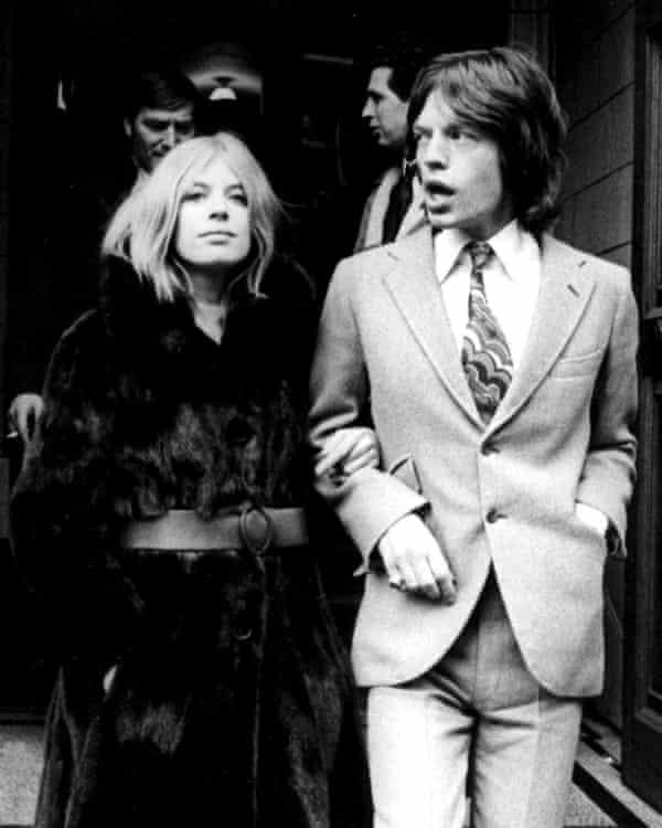 Marianne Faithfull and Mick Jagger.
