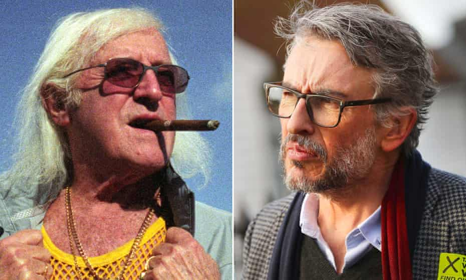 Composite image of Jimmy Savile and Steve Coogan