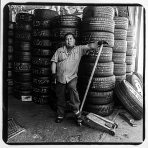 Josè Cruz, a mechanic at Diffo Auto Glass & Flat Fix, 1510 Jerome Avenue