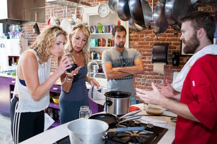 New Yorkers Roz Bielski and daughter Rachel at a cookery class in Denver