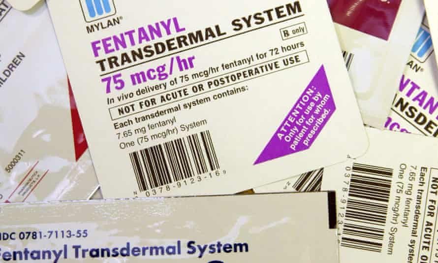 Fentanyl patches are legal and approved by the US Food and Drug Administration. Photograph: Tom Gannam/AP