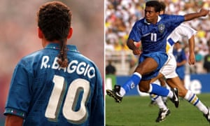 Italy's Roberto Baggio and the Brazil striker Romário were among the stars of the 1994 World Cup.