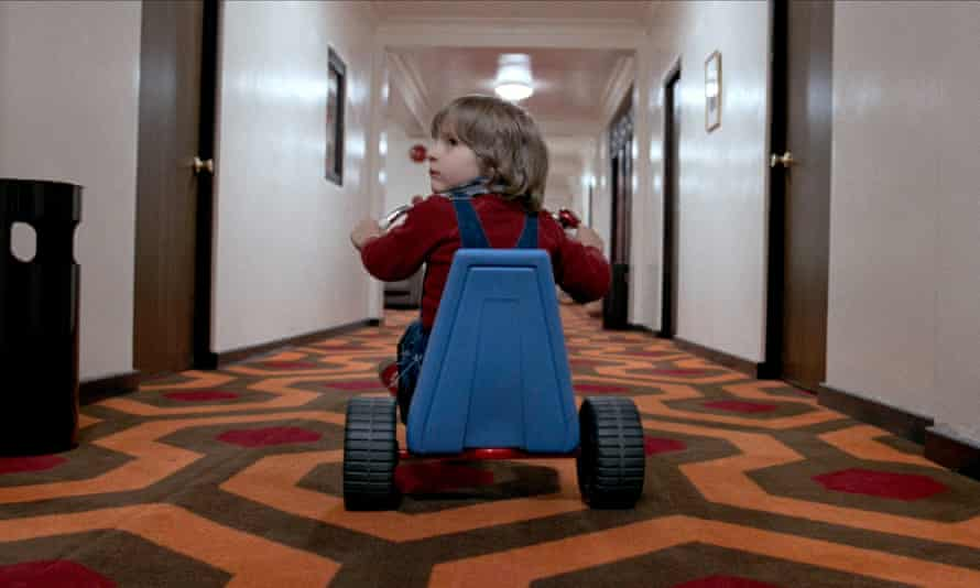 That boy needs therapy … Danny Lloyd as Danny Torrance in The Shining.
