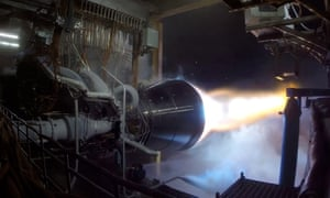 Blue Origin, Jeff Bezos's private space launch company, test-fires the world's most powerful methane-burning rocket engine.