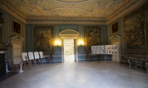 Clandon Park House before the blaze on Wednesday. The mansion is a popular wedding venue